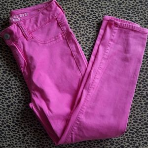 AMERICAN EAGLE High Rise Pink Jegging Crop Pants